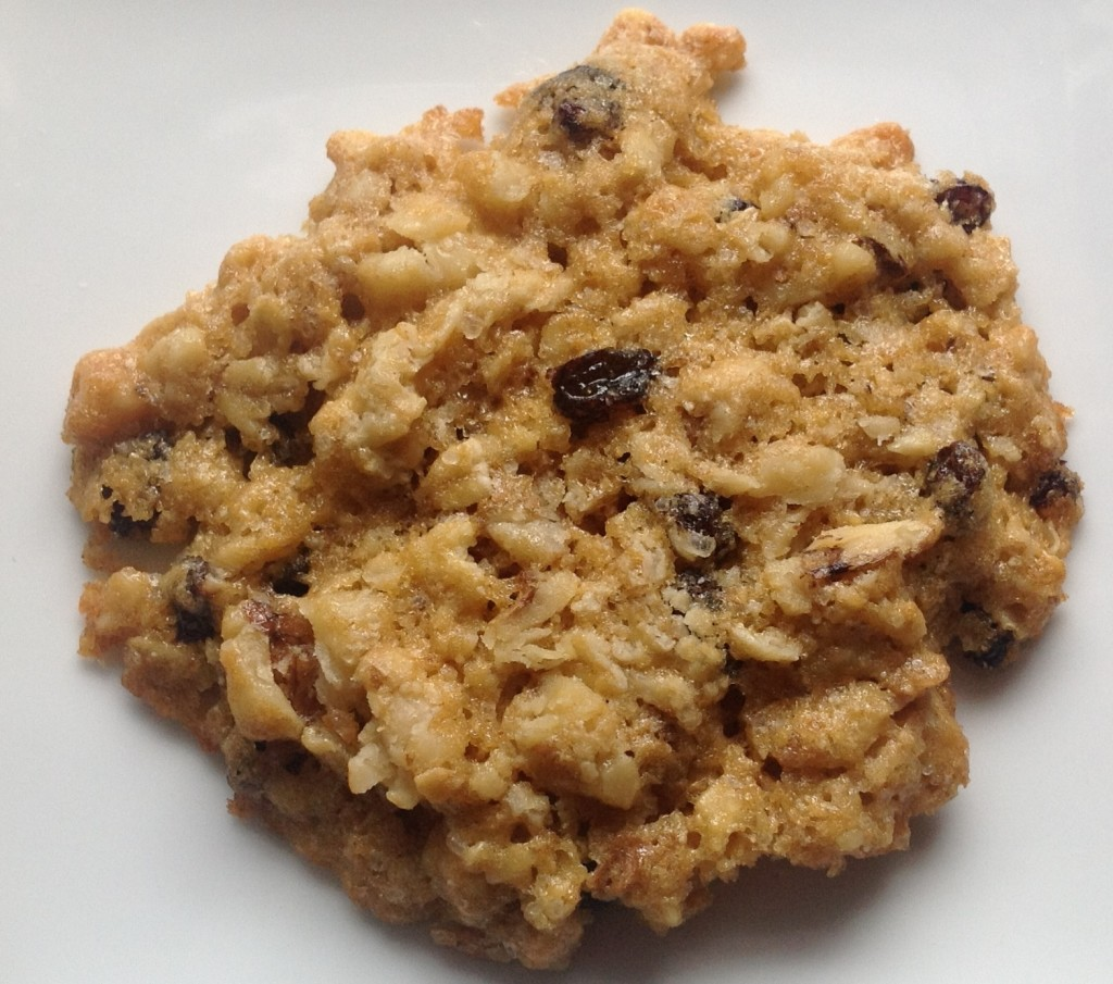 rolled oat, Zante raisin, walnut cookie | photo gourmet-metrics